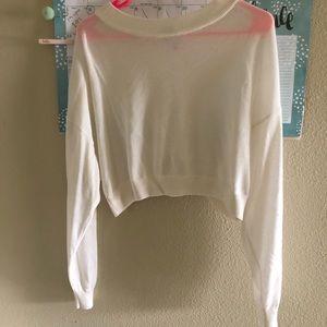 Women's crop top sweater